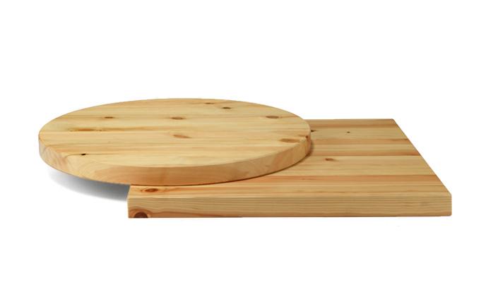 Piano in legno massello colore naturale